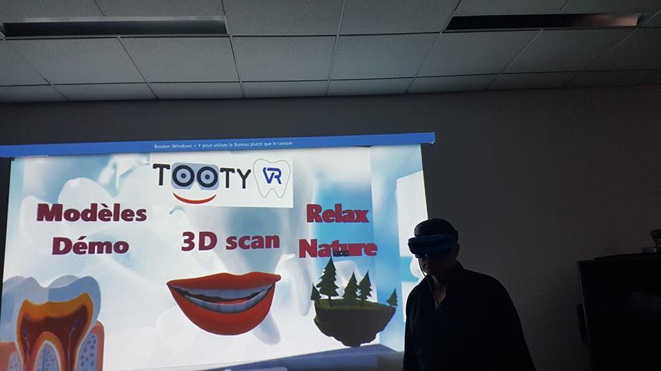 Tooty VR au DU de CFAO dentaire de Montpellier