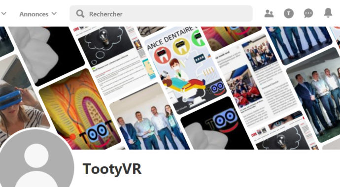 TootyVR ouvre sa page Pinterest