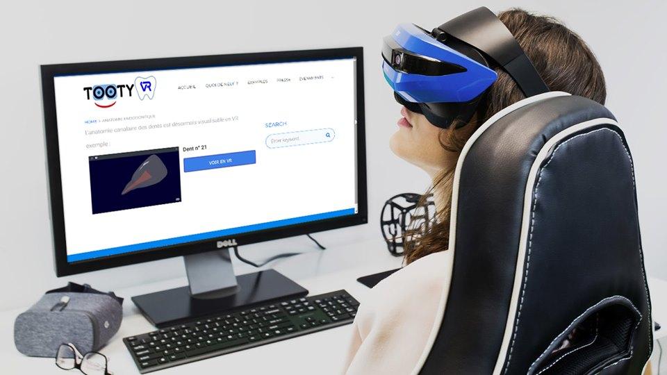 L'anatomie endodontique en Réalité Virtuelle