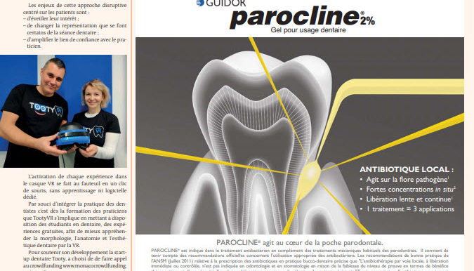 Presse : Tooty VR dans Dental Tribune